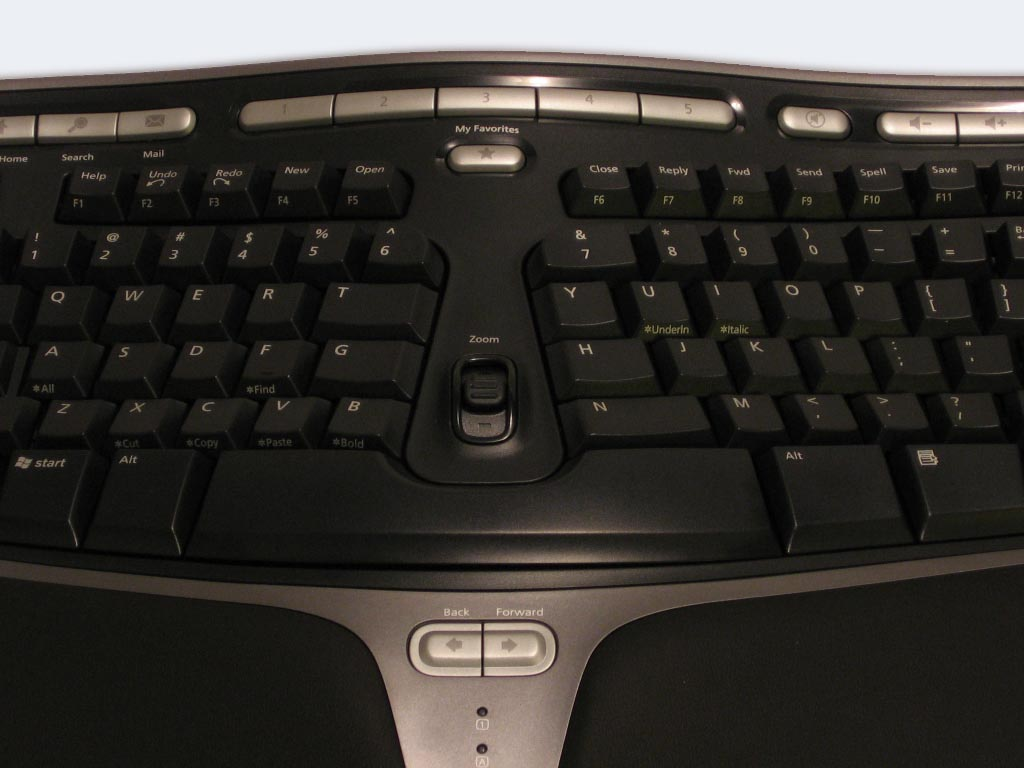 Microsoft Natural Ergonomic Keyboard 4000 драйвер