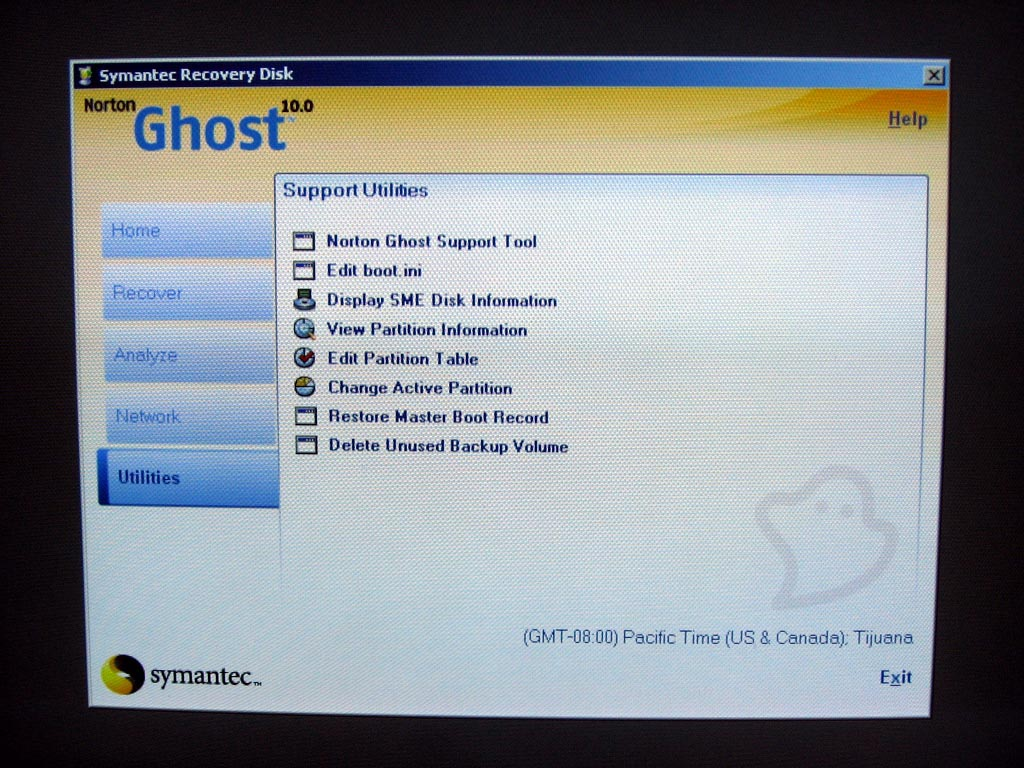 Norton ghost linux support